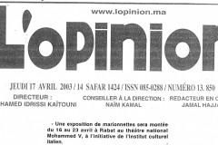 2003-Aprile-17-Lopinion